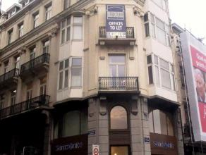Office space for rent in a beautiful mansion located on the corner of Boulevard de Waterloo and Rue du Pépin, between Louise and the Leopold di