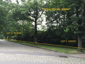 Bouwgrond van ca 3530 m²  (lot nr 1) op toplocatie in Vriesdonk voor open bebouwing (villa) met toegelaten bebouwde oppervlakte van 250 m².