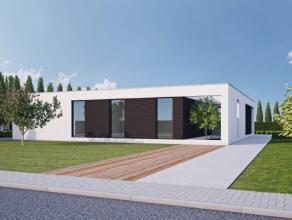 Exclusieve strakke nieuwbouwvilla in tweede bouwlijn op een perceel van 1666,76 m2 net buiten de dorpskern van Lovendegem. Goed doordacht open-plan-co