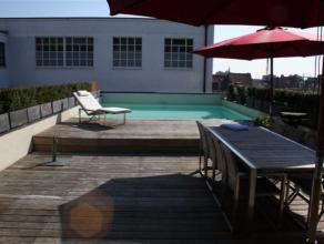 Cet exceptionnel Loft triplex-penthouse (+/- 170m² + terrasse & piscine privative) 2 chambres (avec armoires encastrées dans les 2) se