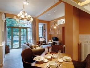 SIMONIS//BASILIQUE Superbe appartement arrière (au calme) meublé ±100m² 2 chambres, à proximité du métr