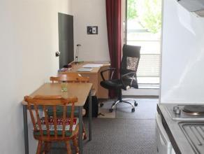 Charmante gemeubelde studio in de residentie Helios in het hartje van Gent met kitchenette en afzonderlijke badkamer met douche en toilet. Fietsenberg