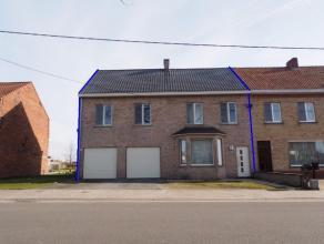 Praktisch gelegen woning met dubbele garage en zonnige tuin te Wingene. Laag beschrijf mogelijk!! De woning omvat volgende indeling: inkom, living, ke