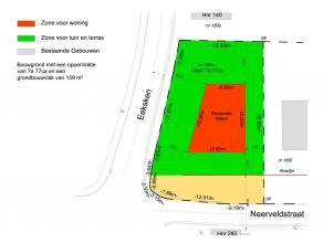 Bouwgrond voor open bebouwing. LOT 7. Perceelsoppervlakte: 7a72ca. Stedenbouwkundige info beschikbaar op kantoor. Op wandelafstand van het centrum van