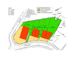 5 percelen bouwgrond gelegen in een goedgekeurde verkaveling, loten 2 tot 5 elk met de mogelijkheid om er één ééngezinswon