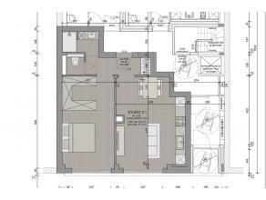 LEUVEN - Een mooi appartement met 1 slaapkamer, in een renovatieproject van in totaal 19 studios (30,1m² tot 46,3m²) en appartementen met 1