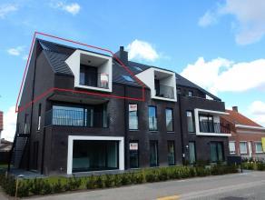 Prachtige en zeer ruime(141m²)nieuwbouwloftmet3 slaapkamers en 2 badkamers, voorzien van alle comfort en aangenameterrassen. Gelegennabij het cen