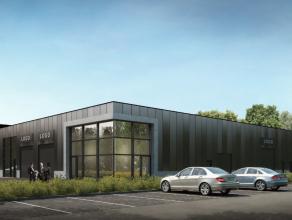 Nieuwbouw kmo-unit te huur van 230 m² gelegen op een toplocatie. Zichtbaar vanaf de oprit van de E19, naast Carglass en de nieuwe Porsche garage!