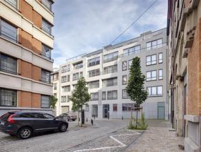 Recent gemeubeld gelijkvloers (127,5 m²) met 2 slaapkamers, 2 badkamers en ruim terras met tuin te koop in het centrum van Brussel. Het apparteme