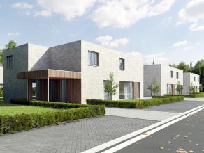 Stijlvolle moderne woning op half open bebouwing van 3 are 14 ca (project van 6 woningen) , rustig gelegen op wandelafstand van het centrum. Snelle ve
