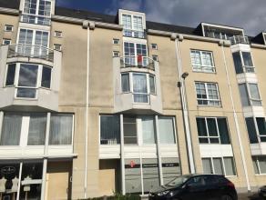 TE HUUR: het appartement bevindt zich op de 3de verdieping en is al volgt ingedeeld: inkomhal, ruime woonkamer, keuken (kookplaat, dampkap, ijskast en
