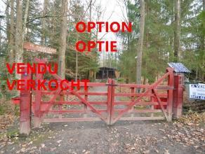 """OPTION Chalet """"Rossignol"""" rénové et attrayant, isolé sur un terrain boisé de +/- 1000 m², au calme dans une rue sans"""
