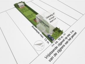 Technische info Grondoppervlakte: 522,26m² Straatbreedte: 10m Diepte: ca. 52m Oriëntatie : Noordoost Bouwvoorschriften Dit perceel heeft als