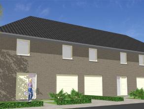Nieuw te bouwen halfopen woning aan op een nieuwe en rustige verkaveling. Bestaande uit ruime living, keuken met AEG-toestellen, garage en berging. He