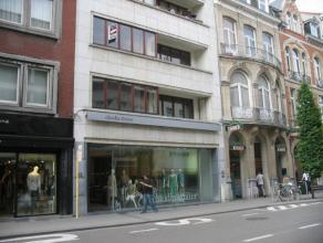Sfeervol appartement (140 m²) gelegen in de hoofdstraat van Leuven. Op wandelafstand van station, bushalte en winkels. Bevat : grote living (60 m