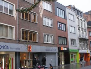 Mooi en volledig gerenoveerd 1 slaapkamer appartement in het centrum van Leuven, vlakbij het station: living met open keuken, 1 slaapkamer, badkamer,