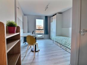 Studio SINGLE moderne meublé d'env.22 m², situé au deuxiéme étage. Séjour avec revêtement en PVC massif