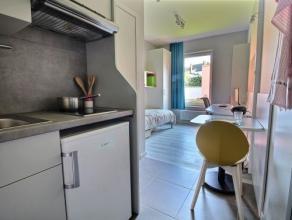 Studio SINGLE moderne, neuf de 2016, meublé d'env.27 m², composé de : séjour, cuisine équipée (2 taques cuisso