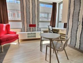 Studio SINGLE moderne semi- meublé d'env. 29m² situé à l'étage 9/10 côté Rue des Carmes. Séjour a
