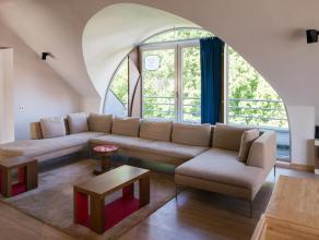 Unieke duplex penthouse van maar liefst 230 vierkante meter, gelegen op hoek van Maria-Theresiastraat en Bogaardenstraat, tegenover Erasmustuin en op