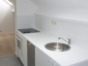 Deze volledig vernieuwde instapklare flat heeft een deels ingerichte keuken, een aparte slaapkamer, badkamer, berging en een tuin.<br /> Beslist een b