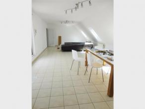 Leuk, deels gemeubeld, DAKAPPARTEMENT te huur in het centrum van Diest, Allerheiligenberg 9. Het appartement is gelegen in een residentie met lift en