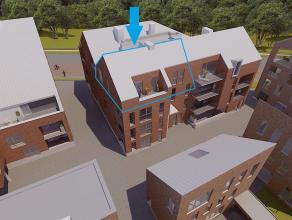 Zonnig appartement met 2 slaapkamers op de derde verdieping.<br /> Echt buitenterras van 8 m². Pal in het Zuiden. <br /> <br /> Het appartement i