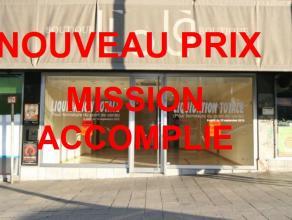 Liège : Magnifique Rez-commercial Rénov +/-170 m² 2 belles vitr Expo Idéalement situé à côté des