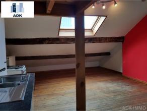 Appartement de 50m² - 1chambre - 4 ème étage : Living sur plancher avec cuisine ouverte semi-équipée (évier -