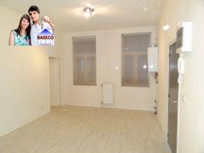 Rez-de-chaussée composé d'un living, d'une cuisine semi-équipée, d'une salle de douches et d'une chambre.Loyer : 475euro(s