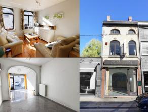 Belle maison de commerce idéalement située sur l'avenue Paul Pastur. Rez : Spacieuse surface commerciale 50m², cuisine, salle de ba
