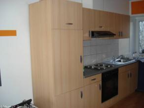 Mont-sur-Marchienne: Bel appartement duplex individuel situé au 1ère étage comprenant: Hall d'entrée, living avec cuisine