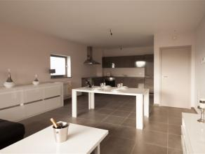 Superbe APPARTEMENT neuf composé comme suit : Hall d'entrée, WC séparé, buanderie, living avec cuisine super équip&