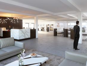 Kantoren (393m²) op de eerste verdieping, op een schitterende ligging die bereikbaarheid met zichtbaarheid combineert. <br /> <br /> Bushalte i