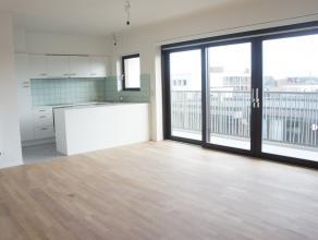 Dit appartement is gelegen in de residentie boven K in Kortrijk. Het appartement beschikt over een ruim zonnig terras dankzij de zuidelijke oriën