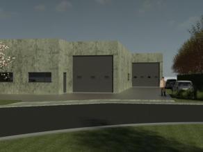 Nieuwbouw atelier te koop van 1.066m² met vrije hoogte van 5,5 meter gelegen op de industriezone van Diksmuide. Totale grondoppervlakte van 1.452