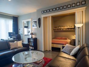 Met een oppervlakte van +/- 40 m² biedt deze studio alle nodige ruimte en comfort. Hoewel leef- en slaapgedeelte 1 geheel is, kunnen deze gemakke