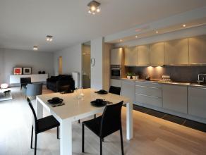 Gemeubeld nieuwbouwappartement (70m²) met 1 slaapkamer in loftstijl met zuidgericht terras gelegen op de tweede verdieping in residentie De Fonde