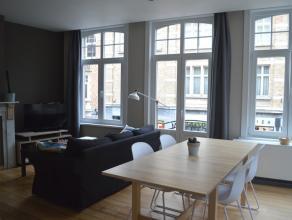 Lichtrijk, gezellig appartement met zeer centrale ligging te huur in Ieper. Zicht op de Lakenhallen! Geen huisdieren toegelaten. Kelderberging en lift