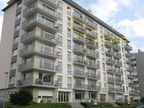 Zonnig 2-slaapkamerappartement (de 6e verdieping), met voor- en achterterras te huur te Sint-Michiels in residentie San Michele. Een schitterend zicht