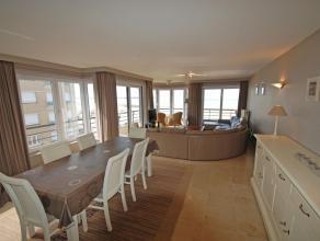 Prachtig ruim en zonnig hoekappartement (140m²) op een 5e verdieping op de zeedijk woonkamer met 2 balcons, ingerichte keuken, 3 slaapkamers met