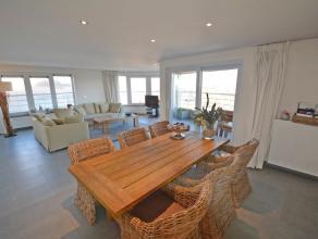 appt op 100m van de zeedijk met zeezicht en zuidgericht terras, 5e verdieping woonkamer met open keuken, volledig ingericht, berging, 2 ruime slaapkam