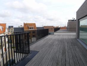 Deze penthouse is gelegen op de bovenste verdieping waardoor u een GIGANTISCH terras van 186m² heeft.<br /> Verder heeft deze prachtige penthouse