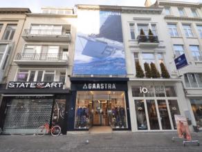 Uitzonderlijk handelspand gelegen op uitstekende AAA-locatie - 100 m² grondoppervlakte - 6 meter etalage – komt vrij wegens einde huurceel (mogel
