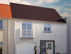Nieuwbouw in landelijke stijl met 3 slaapkamers in Zevekote. De woning omvat een inkom met apart toilet, leefruimte met open keuken, terras en garage.