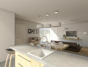 APPARTEMENT OP TWEEDE VERDIEP MET 2 SLAAPKAMER EN TERRAS REF 0203 Het appartement beschikt over een lichtrijke woonkamer en keuken met zicht op het te