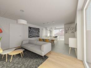 APPARTEMENT OP EERSTE VERDIEP MET 1 SLAAPKAMER EN TERRAS REF 0102 Het appartement beschikt over een lichtrijke woonkamer en keuken met zicht op het te