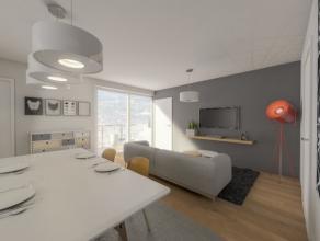 GELIJKVLOERS APPARTEMENT MET 2 SLAAPKAMERS EN TUIN/TERRAS REF 0002 Het appartement beschikt over een lichtrijke woonkamer en keuken met zicht op het t
