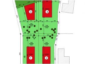 4 bouwgronden voor open bebouwing te Drongen. 2 gelegen langs de 'Pachtgoeddreef', 2 gelegen langs de 'Mariakerksesteenweg'<br /> Prijs vanaf 225.000