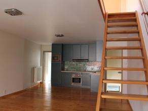 Verzorgd en energiezuinig duplex appartement van 80m² met 1 slaapkamer (mezzanine). Indeling: gelijkvloers: private inkomhal, met mogelijkheid vo
